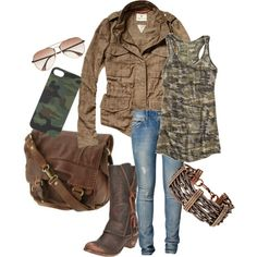 """Country Girl Camo"" by rootsandrenovations on Polyvore"