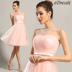 eDressit Sleeveless Sweetheart Pink Party Dress Cocktail Dress
