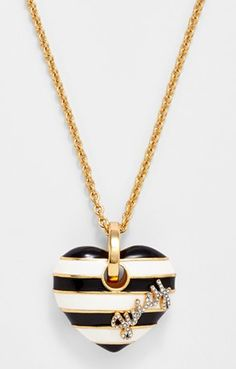 Juicy Couture heart pendant necklace  http://rstyle.me/n/e5vbbpdpe