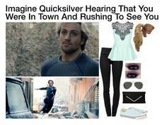 """Imagine Quicksilver Hearing That You Were In Town And Rushing To See You"" by alyssaclair-winchester ❤ liked on Polyvore featuring Quiksilver, Proenza Schouler, City Chic, Converse, Ray-Ban, imagine, Avengers, marvel, quicksilver and pietromaximoff"