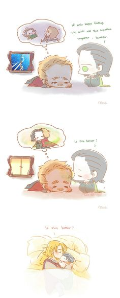 A little magic just like you did || Thor & Loki || Cr: Alexa