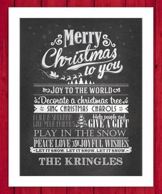 Look at this 'Merry Christmas to You' Personalized Wall Art on #zulily today!