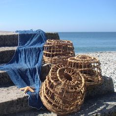 Decorative lobster pots to nonchalantly display about the place in a range of sizes and made of wicker.