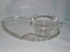 Federal Glass Snack Plate Set.  She's really into these snack sets!