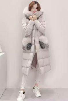 Online Shop 2016 New Fashion Women Down Coat Slim Winter Coat Women's Long Coat Womens Down Jackets Parka Fox fur collar Winter Coats Women, Coats For Women, Winter Jackets, Down Parka, Down Coat, White Ducks, New Fashion, Womens Fashion, Fur Collars