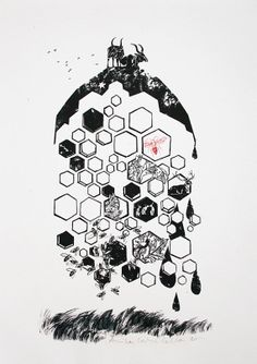 Chapter 2 The Hive  Ltd Edition Giclee Print by CellaAndWolves, €70.00  (3: The Empress)