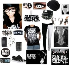 """""""Suicide Silence outfit 2"""" by walkingdeadnerd ❤ liked on Polyvore"""