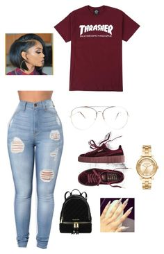 IM BACK by clout-queex-3 on Polyvore featuring polyvore fashion style Puma Michael Kors clothing