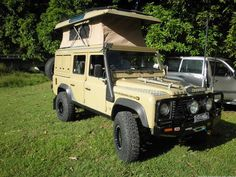 Australian 110 with pop top conversion. A lot of great ideas incorporated in this build