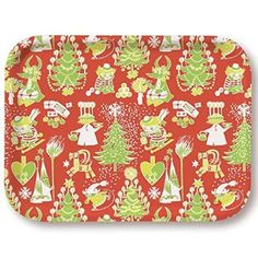 Opto Moomin Christmas Pattern Tray 43x33cm