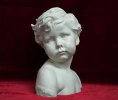 Bust of a child, in signed for Jules Dalou stamped Sevres, monogrammed and dated For sale on Proantic by Antiquités Alain Giron. Roman Sculpture, Art Sculpture, Architecture Artists, China Architecture, Sculpture Romaine, Carpeaux, Ceramic Sculpture Figurative, Dark Art Drawings, Stone Statues