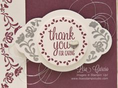 Fresh Fig and Label Me Pretty - Lisa's Stamp Studio Note Cards, Thank You Cards, Lisa Lisa, Fresh Figs, Pretty Cards, Ink Pads, Mixed Drinks, Stampin Up Cards, Paper Craft