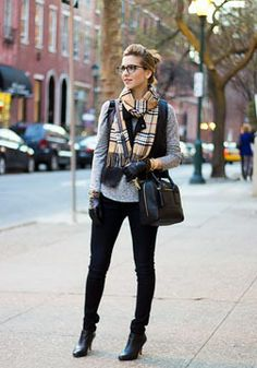 Casual layered look.