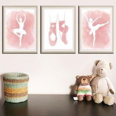 Items similar to Ballet Print - Ballerina Print - Ballet Art - Ballerina - Ballet - Ballet Wall Art - Ballerina Wall Art - Ballet Nursery - Ballerina Nursery on Etsy Travel Theme Nursery, Baby Nursery Themes, Nursery Wall Art, Girl Nursery, Girl Room, Nursery Decor, Girls Bedroom, Bedroom Art, Nursery Prints