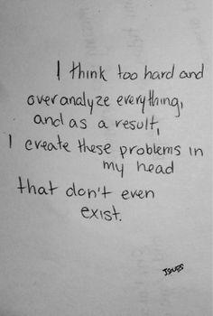 thinking too hard
