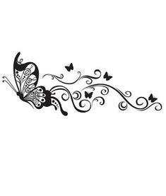 Lower Back Tattoos 72776 Floral Butterflies Butterfly Drawing, Butterfly Tattoo Designs, Butterfly Flowers, Butterfly Design, Floral Flowers, Cover Up Tattoos, Body Art Tattoos, Small Tattoos, Lower Back Tattoo Designs
