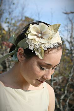 Handmade Fabric Headband, Old Hollywood, Couture