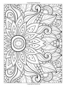 Free adult coloring pages: flowers