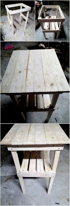 This is simply so creative designed wood pallet shaped design of table that is interestingly designed for your house outdoor. The table piece has been stroke with the amazing wood pallet durable appearance that make it turn out to be perfect located in the house.