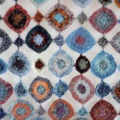 "Crochet scarf - Sophie Digard ""PASTILLE POP"""