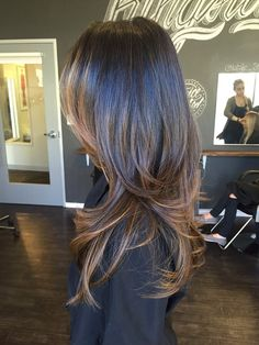 Photo of Audra Tong At Salon Republic - Los Angeles, CA, United States. Dimensional color and layered haircut