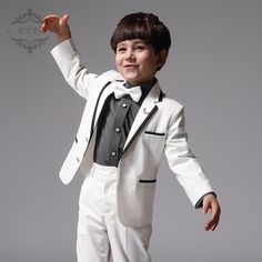 Cheap pants shirt, Buy Quality boys suits directly from China children boy Suppliers: White Children Boy Suit Autumn Spring Boys Formal Suits Performance Birthday Clothing Outwear Pants Shirt Boys Wedding Suits, Boys Formal Suits, Kids Suits, Boys Navy Suit, Prom Suit Jackets, Boy Baptism Outfit, Boys Tuxedo, Pant Shirt, Boy Costumes