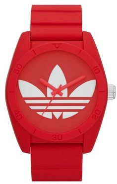 adidas Originals 'Santiago' Silicone Strap Watch, 42mm - $75.00
