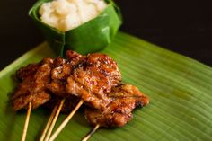 Thai grilled pork known as Moo Ping.
