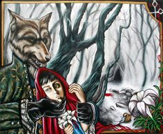 Little red riding hood by MarjorieCarmona.deviantart.com on @deviantART