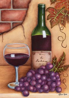 "Wine painting by Arkansas artist, Sheri Hart - Wine painting by Arkansas artist, Sheri Hart "" Wine painting by Arkansas artist, Sheri Hart The E - Grape Painting, Wine Painting, Easy Canvas Painting, Canvas Art, Bottle Drawing, Wine And Canvas, Wine Art, Paint And Sip, Pastel Art"