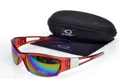 36c014769e4e Oakley Lifestyle breiten roten transparenten Hälfte m Rahmen Fa.€20.86 Red  Sunglasses