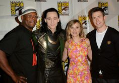 The Avengers assembled. | 22 Things Celebrities Did At Comic Con