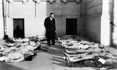 Corps de juifs à la morgue de Bucarest suite au pogrom 1941