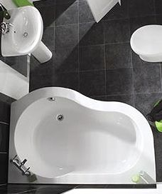 Affine Operette Corner Bath Left Hand With Panel  Bathroom Beauteous Designer Bathroom Store Design Decoration