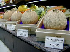 Japan's Cadillac of melons Yubari melons fetches record 2 million yen Most Expensive Food, Decadent Food, Fruit Packaging, Think And Grow Rich, Tiny Food, Food Out, Japanese Food, Cantaloupe, Lunch Box