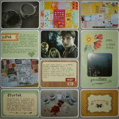 Project life 2014 - 9. týden (pravá strana)
