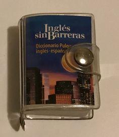 "English Spanish Miniature Dictionary Book Ingles sin Barreras Tiny Mini 1.5""x2"""