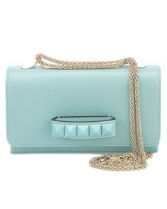Valentino 'Va-Va-Voom' Leather Shoulder Bag absolutely in love with the style, shape, and designer! Green Shoulder Bags, Shoulder Handbags, Leather Shoulder Bag, Very Valentino, Valentino Bags, Lodi Shoes, Leather Purses, Leather Handbags, Fashion Bags
