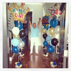 Jahira and Calvin surprised Cesar and his father  with these balloons! #fathersday #love