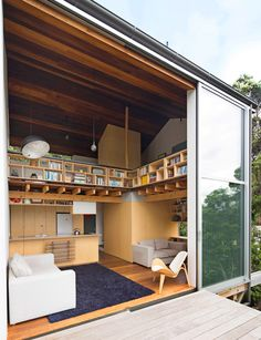 This modest Wellington home was inspired by Makoto Masuzawa's principles of simple living. Photography by: Paul McCredie. Small Apartment Living, Small Apartments, Small Living, Small Spaces, Living Spaces, Inside Home, Micro House, Compact Living, Tiny House Movement