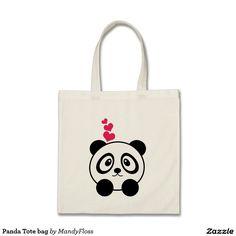 Panda Tote bag on @zazzle