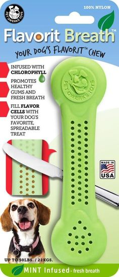 The Flavorit Nylon Bone Chew Toy is one of our favorites here at A Dog's Love™. It was engineered with aggressive chewers in mind. Tiny flavor cells are molded into both sides of the Flavorit chew bon