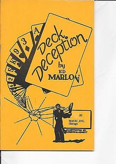 ED MARLO DECK DECEPTION BOOKLET 1970 ORIGINAL EDITION Collectibles:Fantasy, Mythical & Magic:Magic:Books, Lecture Notes www.webrummage.com $9.99