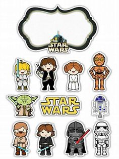 Star Wars Toons Free Printable Cake Toppers.