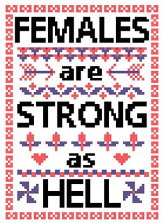 Unbreakable Kimmy Schmidt Females are Strong as Hell by TxStitch