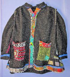 do baseball jacket uPCYCLED sHABBY cHIC tWEED wOOL cOAT fits sizes M L by monapaints, $394.25