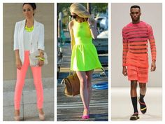 Painel de inspiração neon + Moda | Andrea Velame Blog
