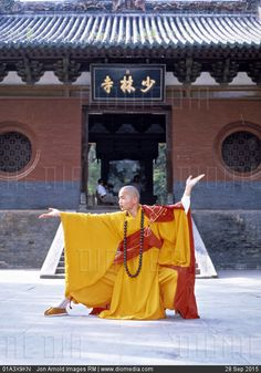 monk at the Shaolin Temple in Henan, China. This Shaolin monk is similar to those who Bodhidharma taught in the ways of Shaolinquan, or Kung Fu. Kung Fu Martial Arts, Chinese Martial Arts, Qi Gong, Samurai, Kung Fu Shaolin, Theme Nouvel An, Art Chinois, Buddhist Monk, Martial Artists