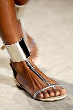 Silver Sandal  #style #fashion #shoes #sandal #silver