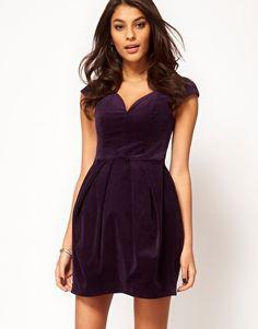 ASOS Structured Dress In Velvet